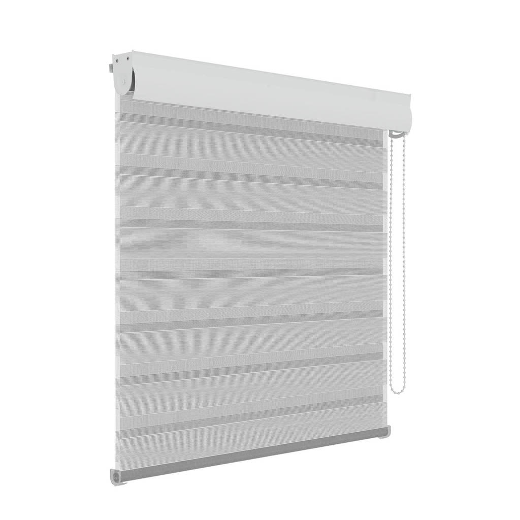 Decosol polyester roljaloezie (90x210 cm), Wit/grijs