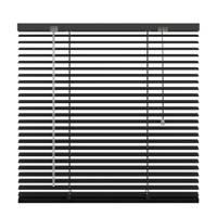 Decosol aluminium jaloezie (140x180 cm), Mat zwart
