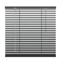 Decosol aluminium jaloezie (140x180 cm), Antraciet