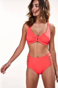 Hunkemöller hoog bikinibroekje met open details rood, Rood