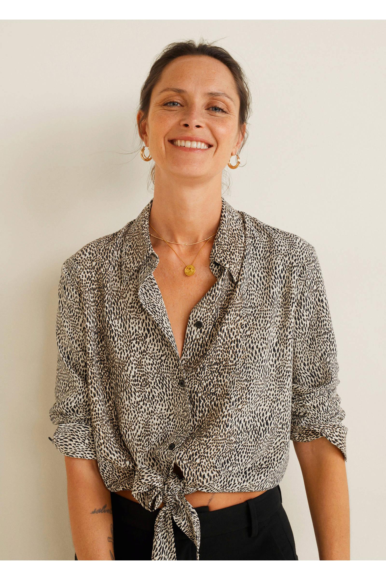 blouse blouse Mango strikdetail Mango met Mango strikdetail met wtq41xXPU