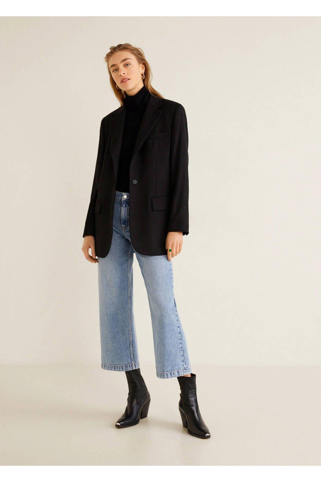 Mango loose fit high waist jeans, Blauw