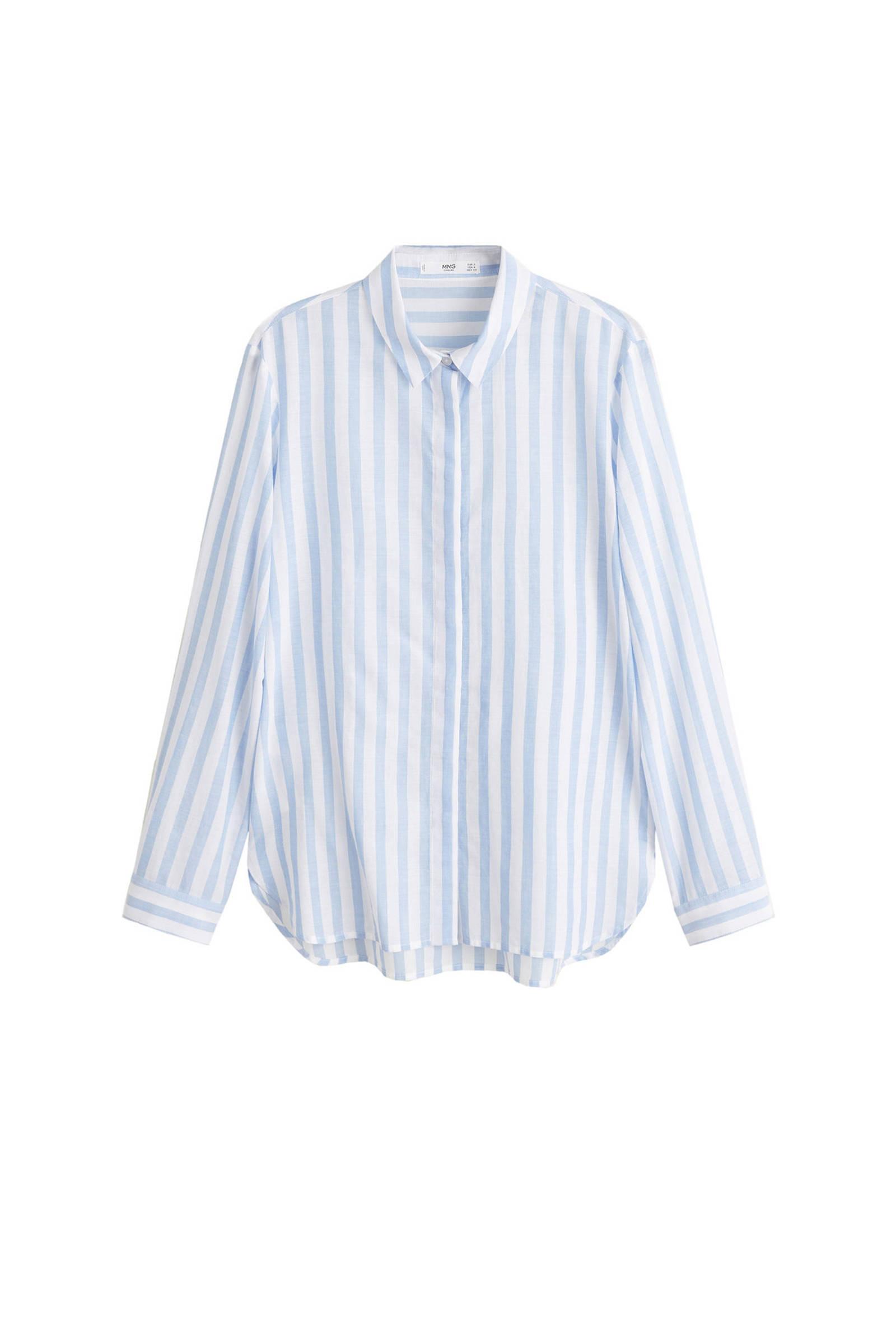witte blouse met roesjes