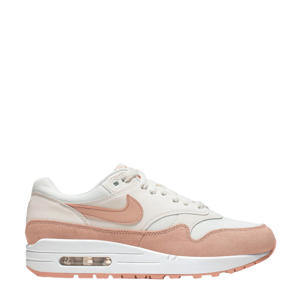 Air Max 1 sneakers wit/roze