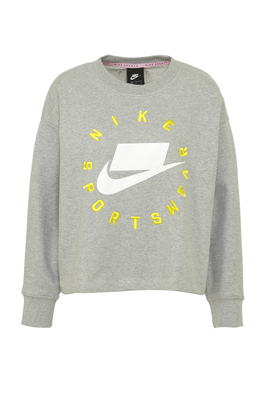 f9c5a1ff237 Nike sweater grijs melange, Grijs melange/geel