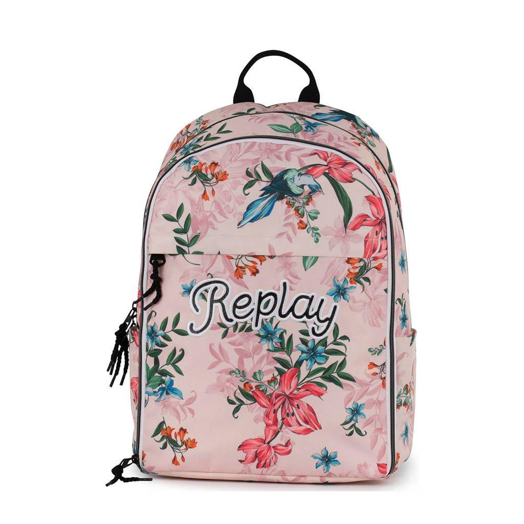 REPLAY  15,6 inch Girls rugzak roze, Roze