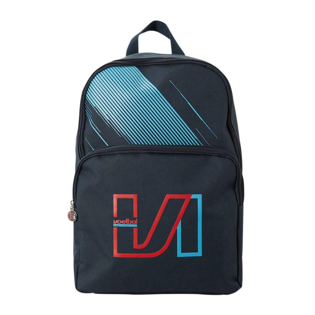 Voetbal International  15,6 inch laptoptas rugzak, Marine/lichtblauw/rood