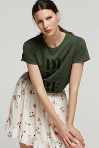 wehkamp Jane Goodall Save the planet T-shirt, Donkergroen
