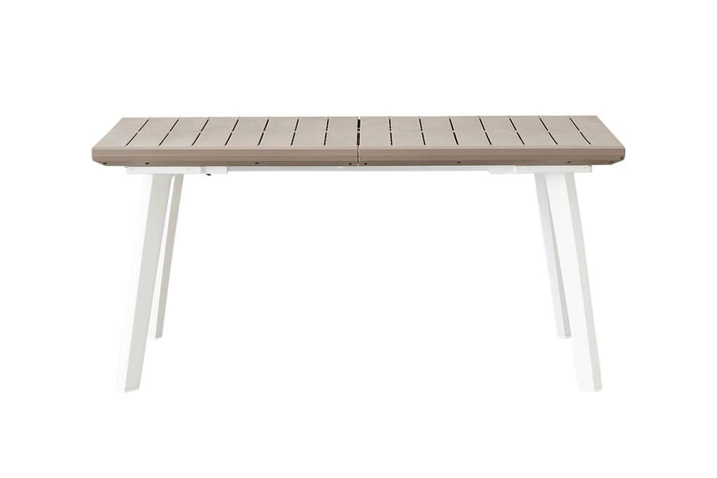 Keter tuintafel (uitschuifbaar 160/240 cm)  Harmony, wit/cappucino
