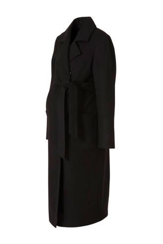 zwangerschapscoat met wol zwart
