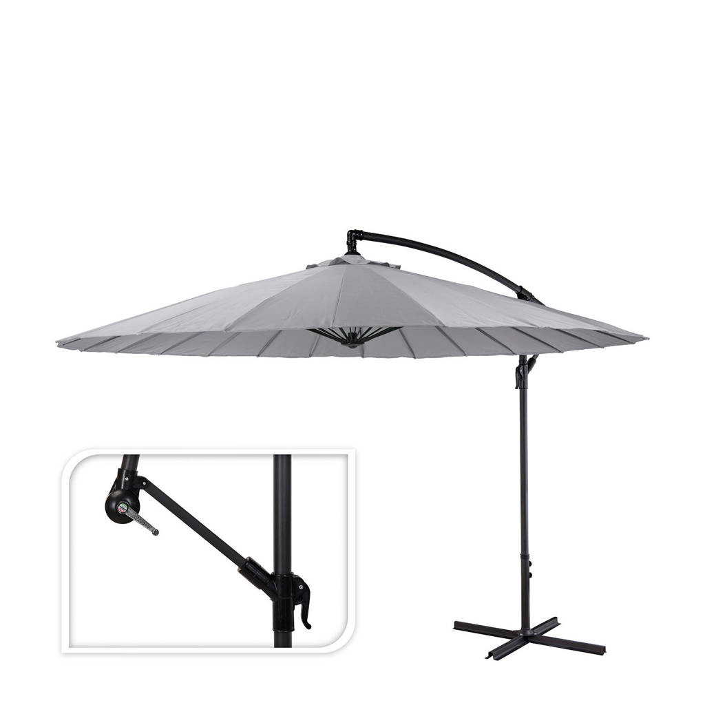 Pro Garden parasol, Grijs/zwart