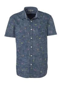Tom Tailor regular fit overhemd met all over print blauw, Blauw