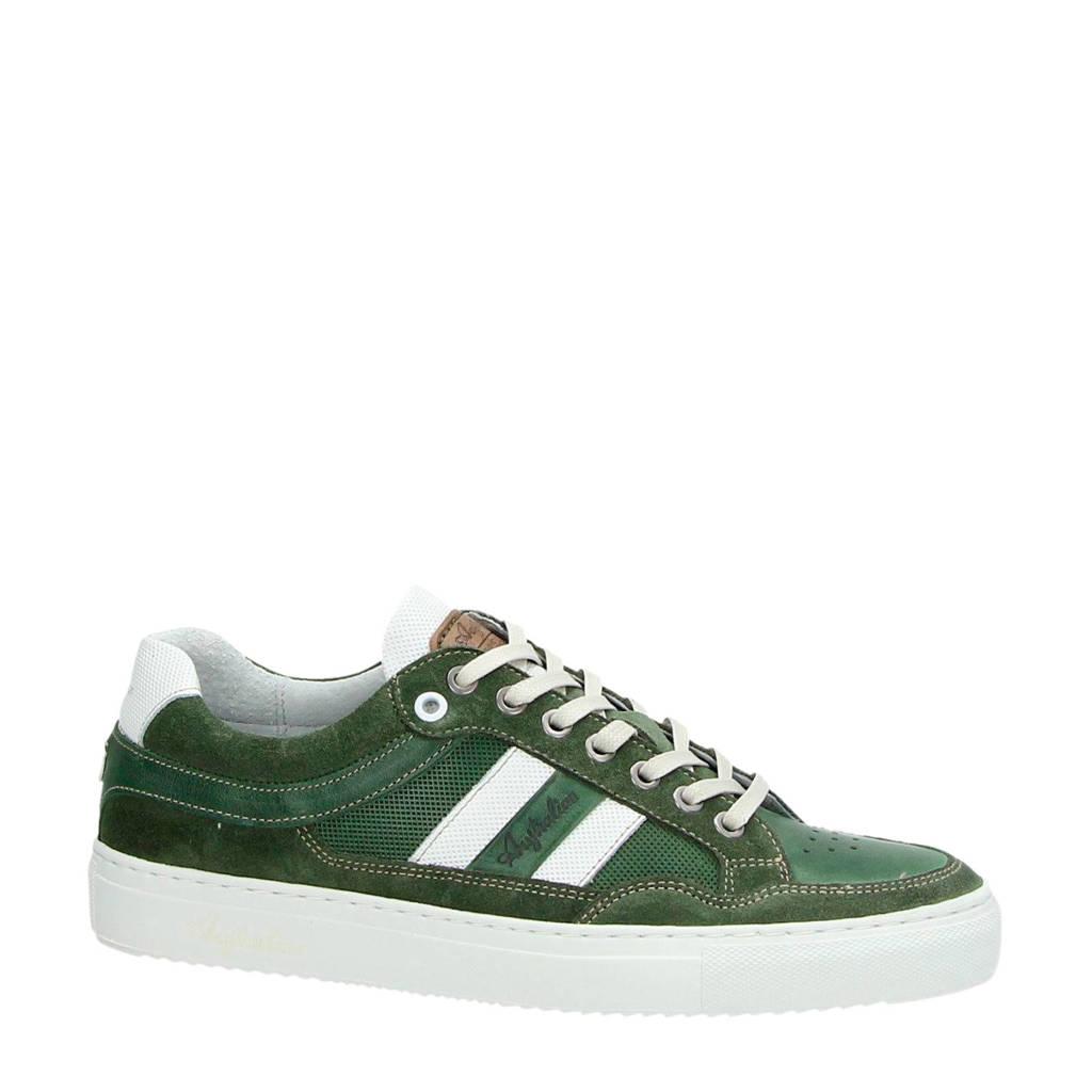 Australian  Brindisi leren sneakers groen, Groen/wit