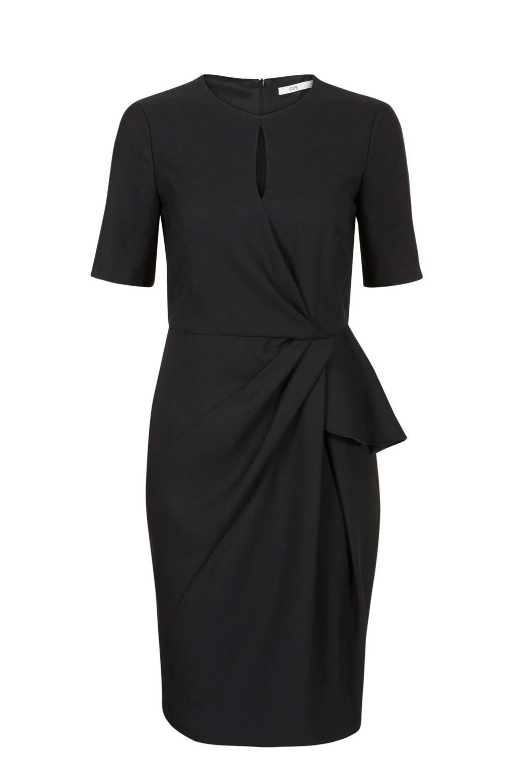 Steps jurk zwart, Zwart