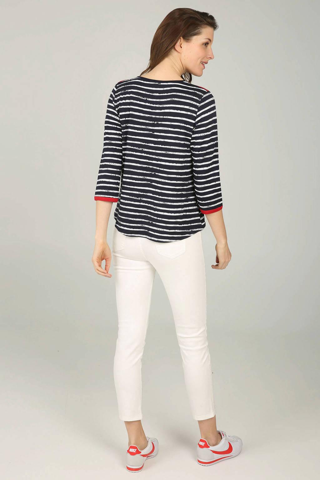 Cassis gestreept T-shirt marineblauw, Marineblauw