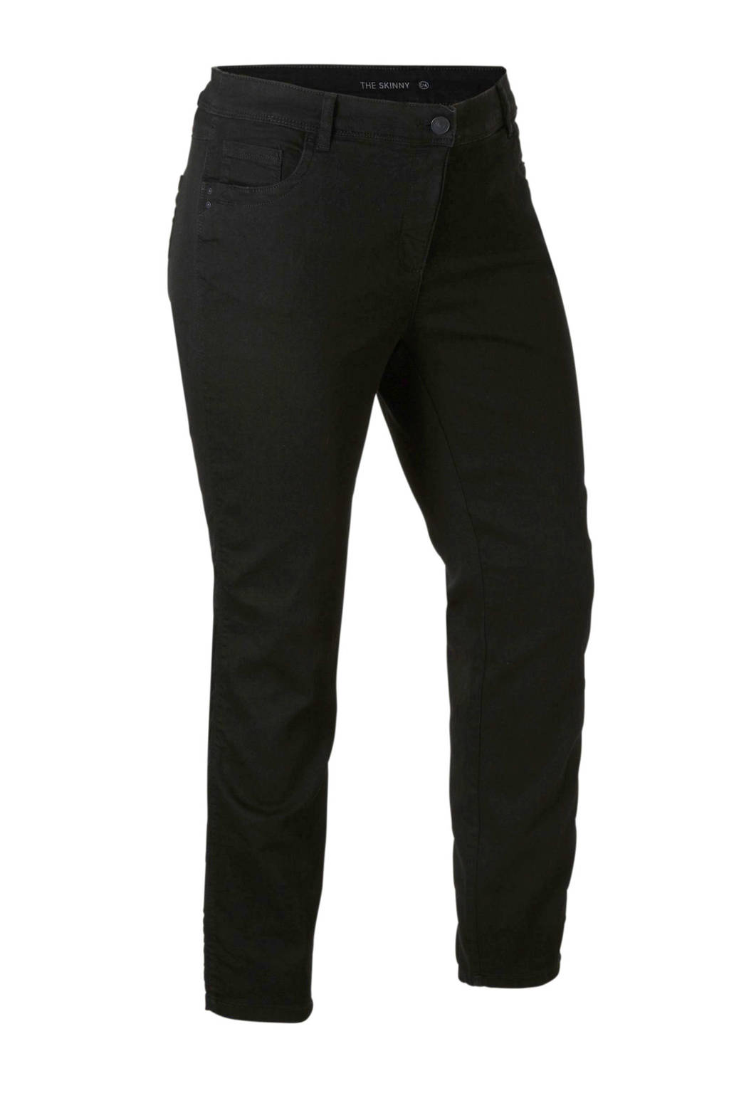 C&A XL Yessica skinny fit jeans, Zwart