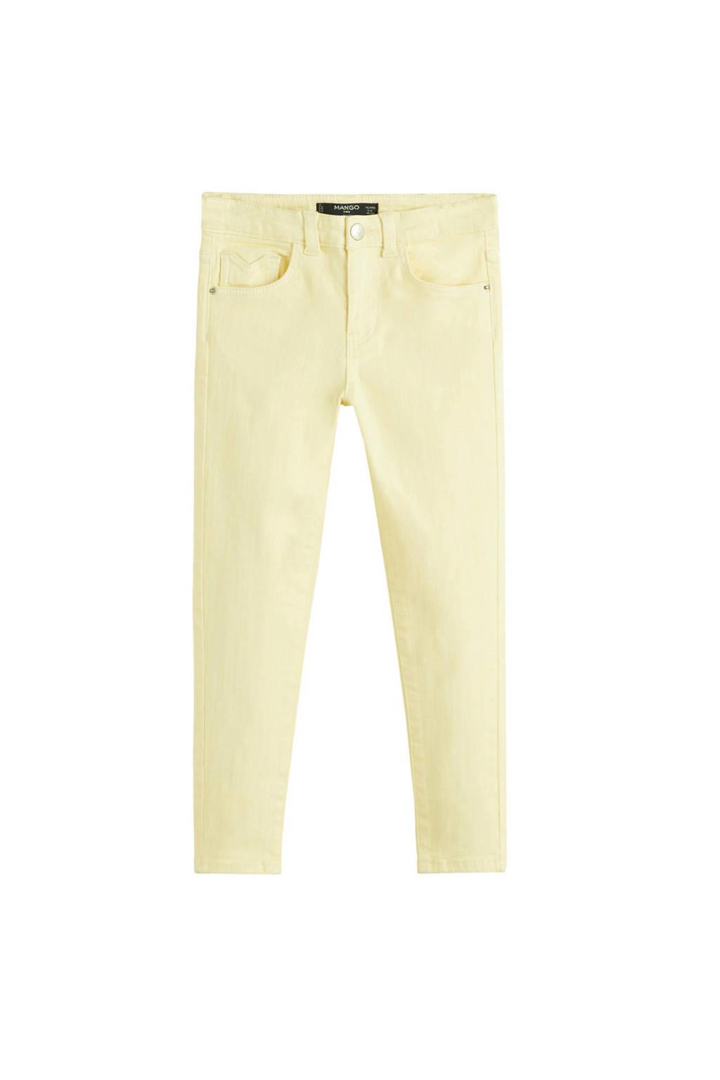 Mango Kids skinny jeans geel, Geel
