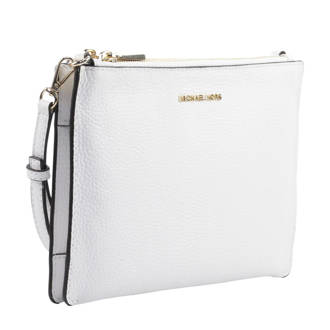 leren crossbody tas Doubble Pouche wit