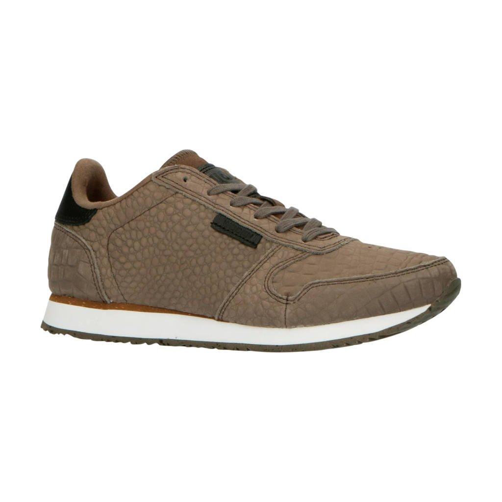 Woden Ydun Croco  suède sneakers taupe, Taupe