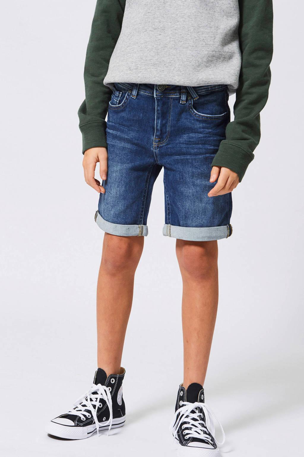 America Today Junior regular fit jeans bermuda, Dark denim