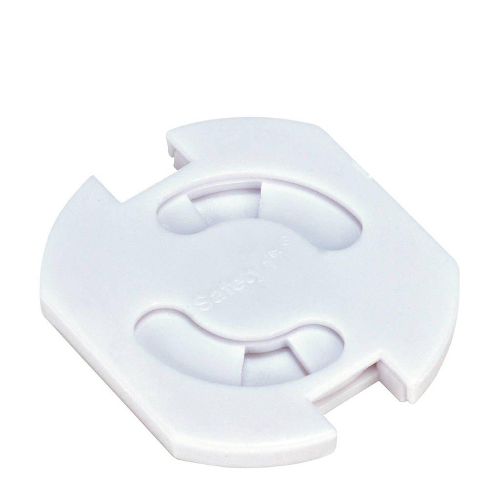 Safety 1st stopcontactbeschermers wit - set van 8, Wit