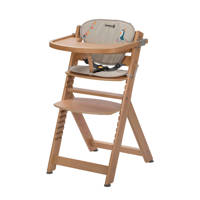 Safety 1st Timba met kussen kinderstoel - natural wood, happy day, Natural Wood/Happy Day