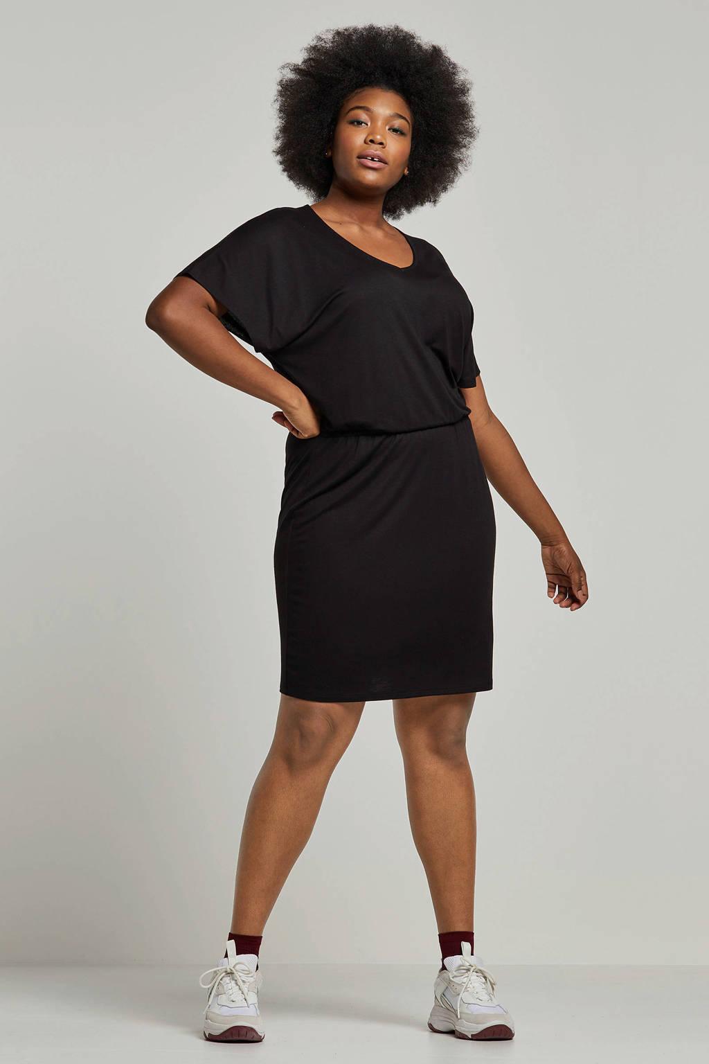 whkmp's great looks jersey jurk, Zwart