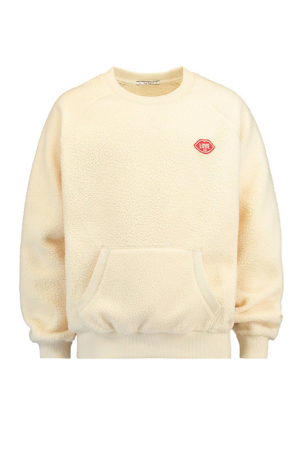 America Today Junior teddy sweater ecru, Ecru
