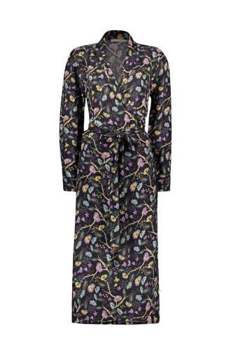 overslag jurk met bloemenprint