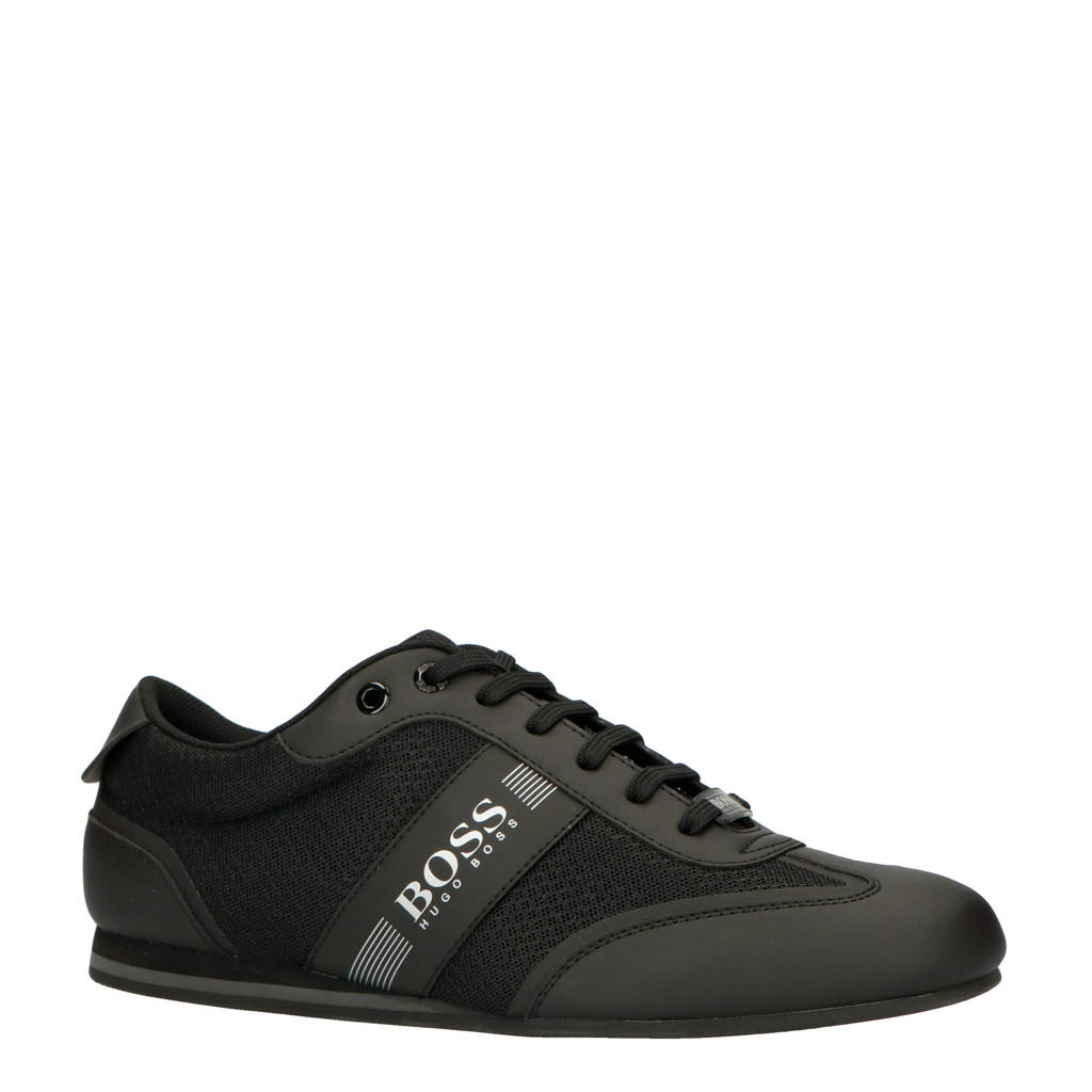 BOSS   Lighter sneakers zwart/grijs, Zwart/zilver