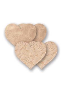 hartvormige tepelcovers – beige