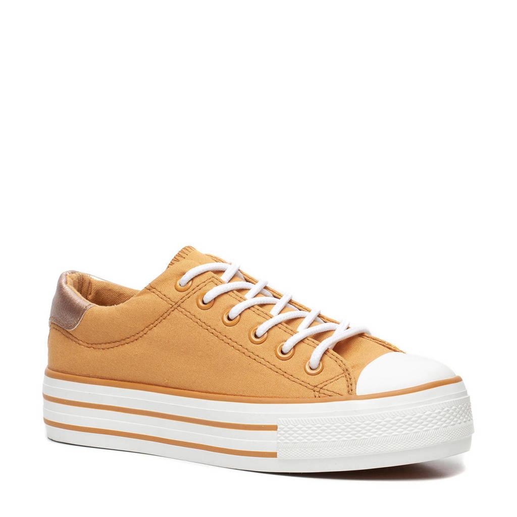 Scapino Blue Box  plateau sneakers okergeel, Okergeel