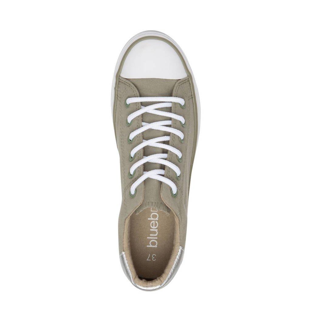Kaki Box Sneakers Blue Scapino Plateau wIqffZ