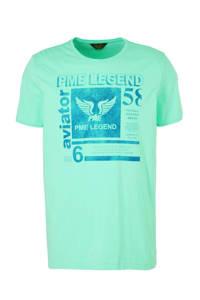 PME Legend T-shirt met printopdruk lichtgroen, Lichtgroen