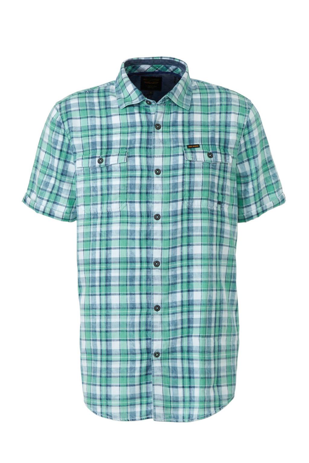 Groen Geruit Overhemd.Pme Legend Geruit Regular Fit Overhemd Wehkamp