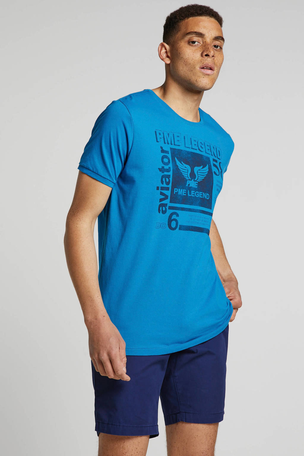 PME Legend T-shirt blauw, Blauw