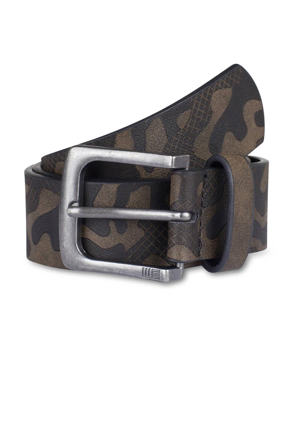 WE Fashion roem met camouflage dessin kaki, Kaki/zwart