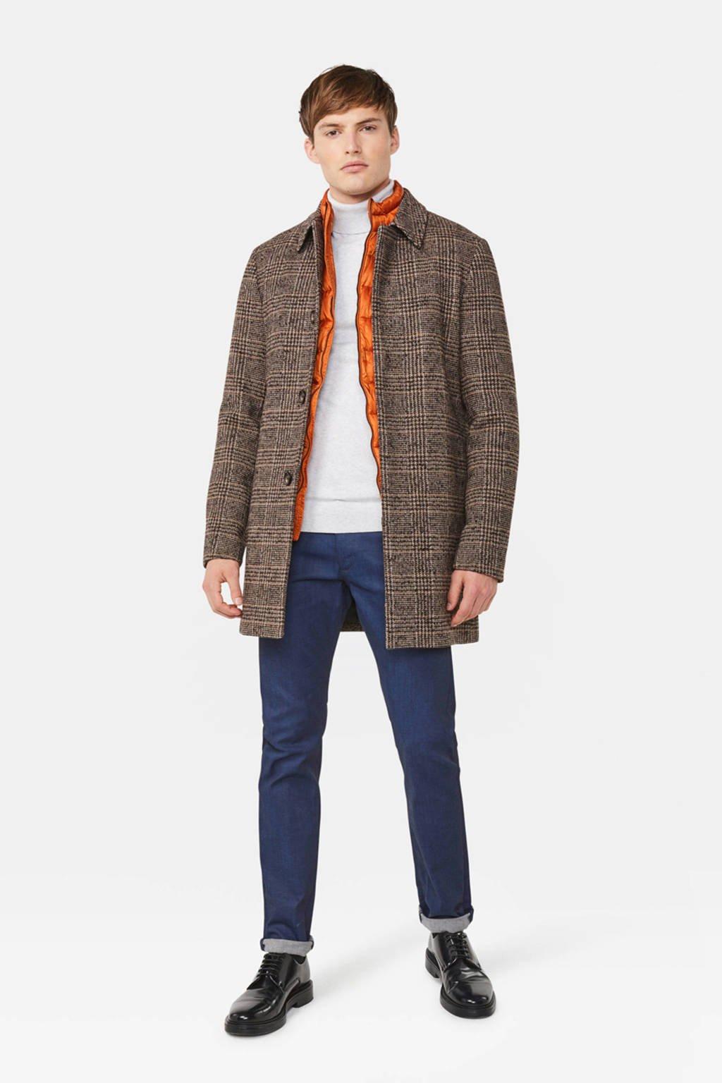 WE Fashion geruit jack grey melange