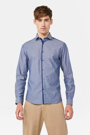 slim fit overhemd royal navy melange