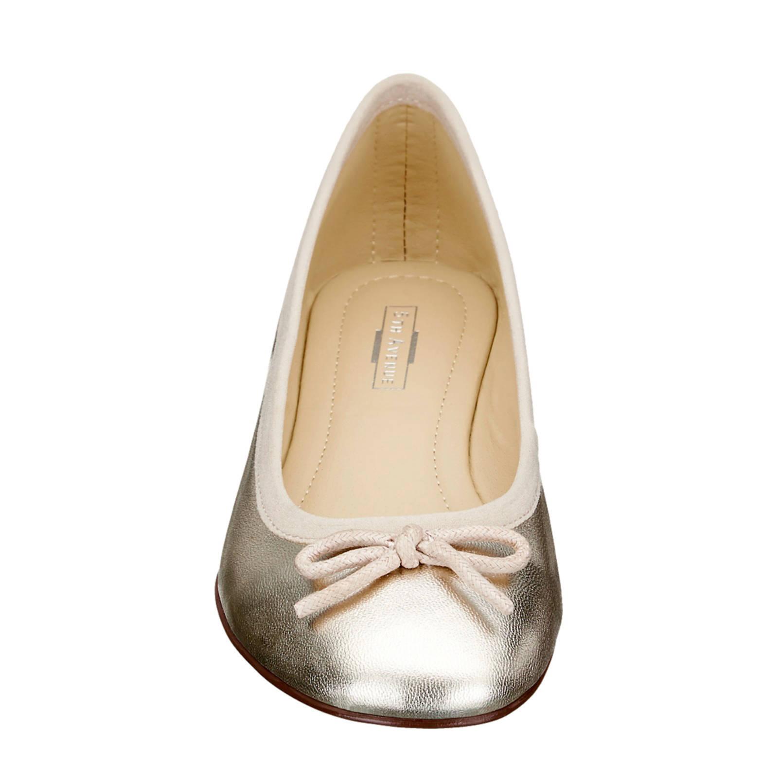 5th Avenue Leren Ballerina\'s Goud