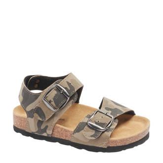 sandalen met camouflageprint