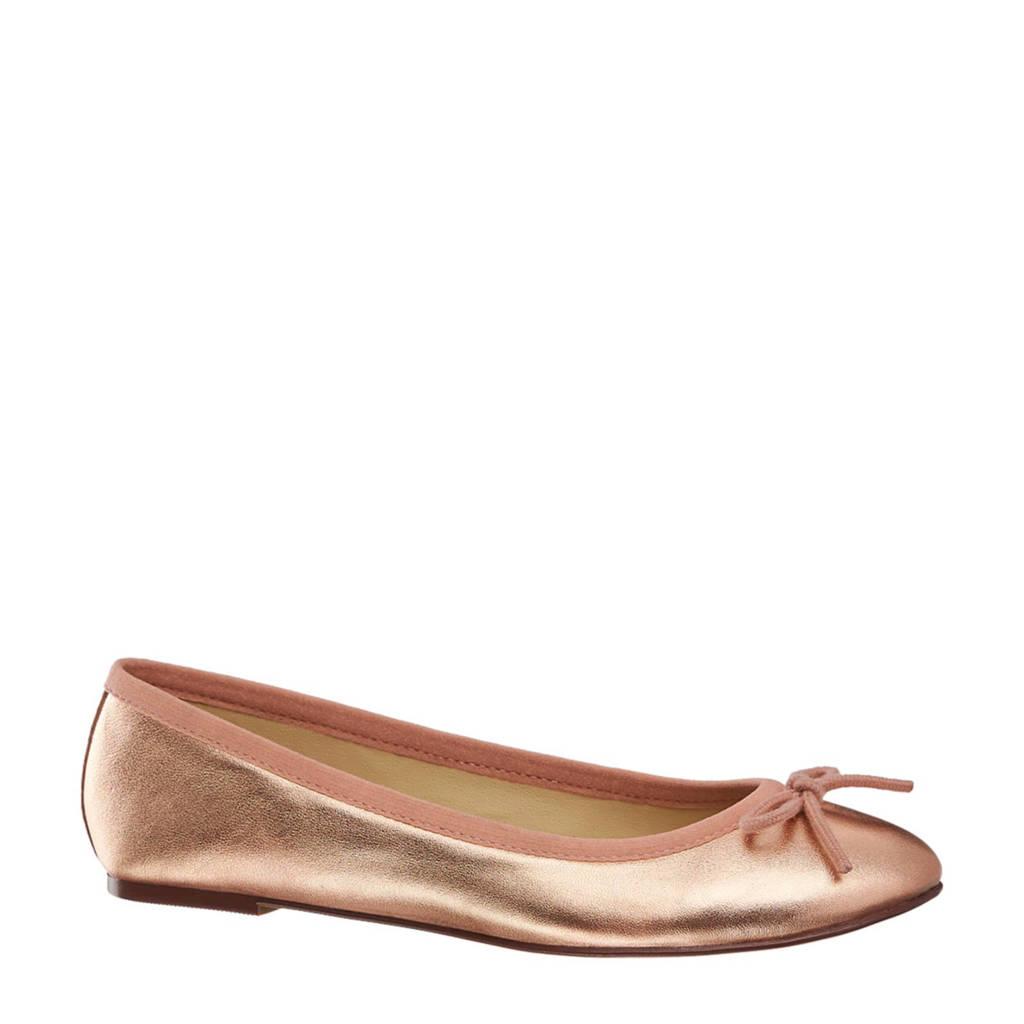 5th Avenue leren ballerina's rosé goud, Rosé goud