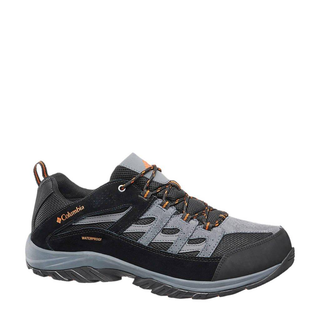Columbia   suède wandelschoenen grijs, Grijs/zwart