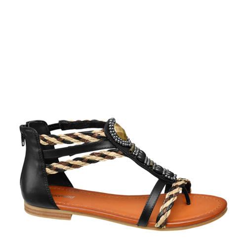 Graceland sandalen zwart kopen