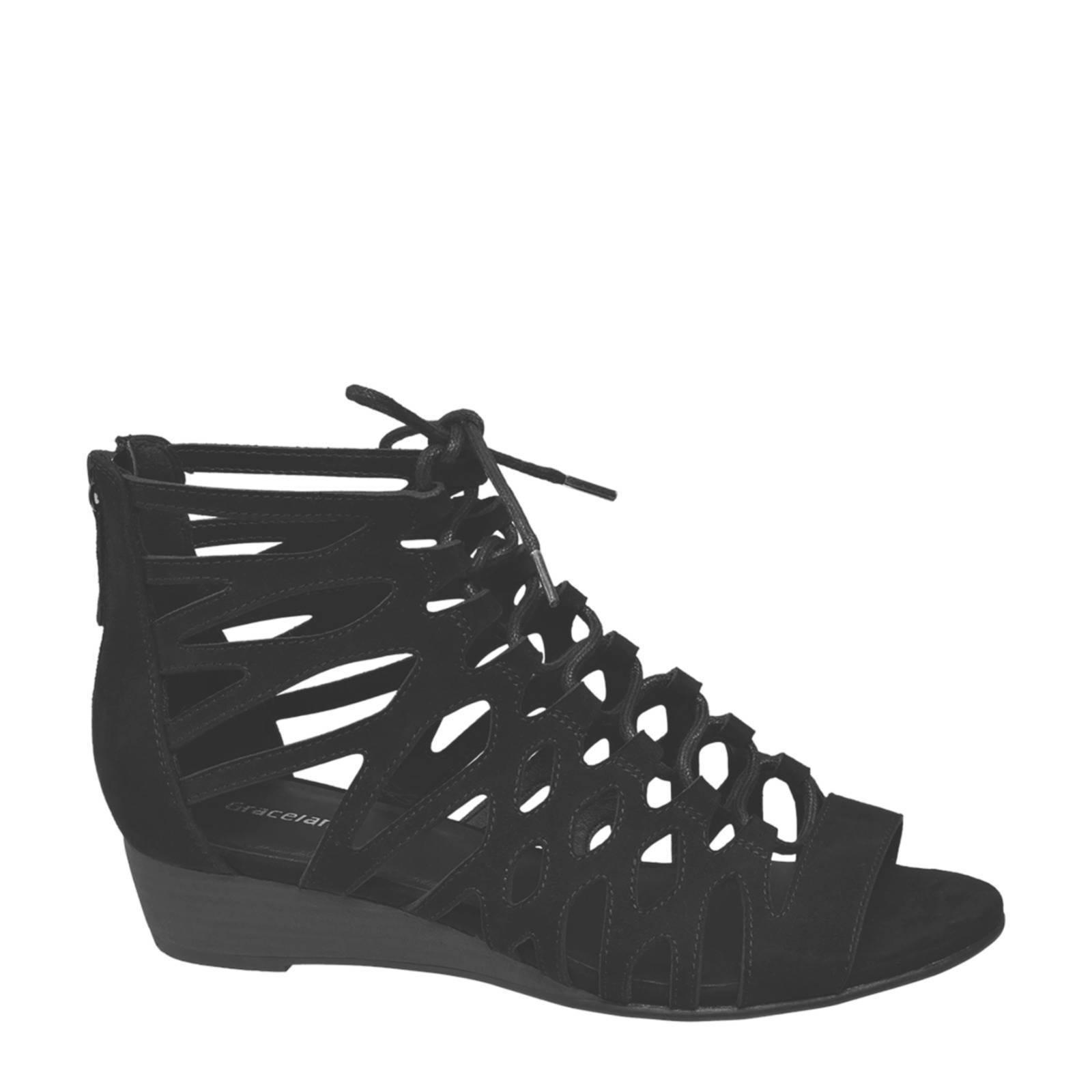 Graceland sandalen zwart | wehkamp