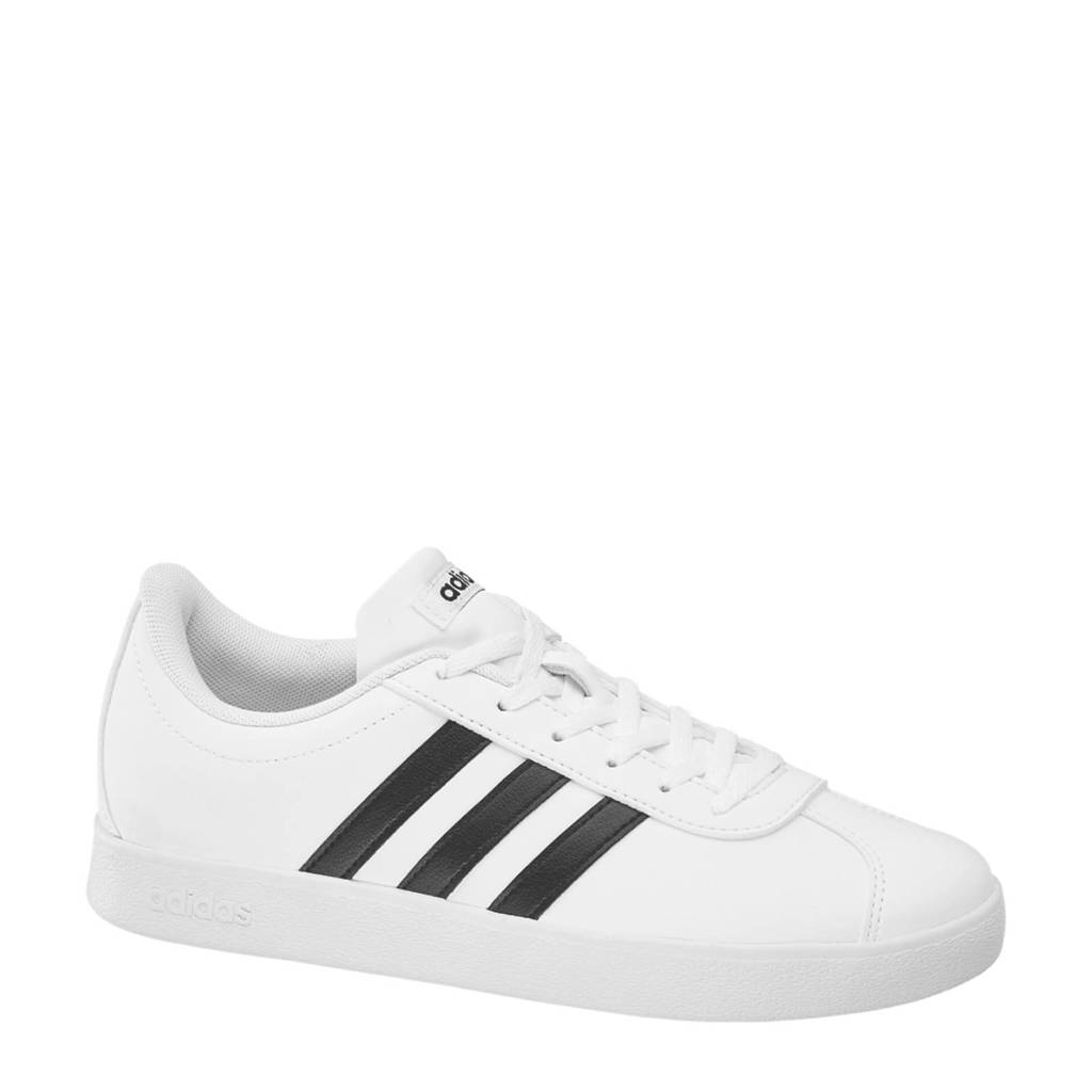 6f82f6ddc0e adidas VL Court 2.0 sneakers wit, Wit/zwart