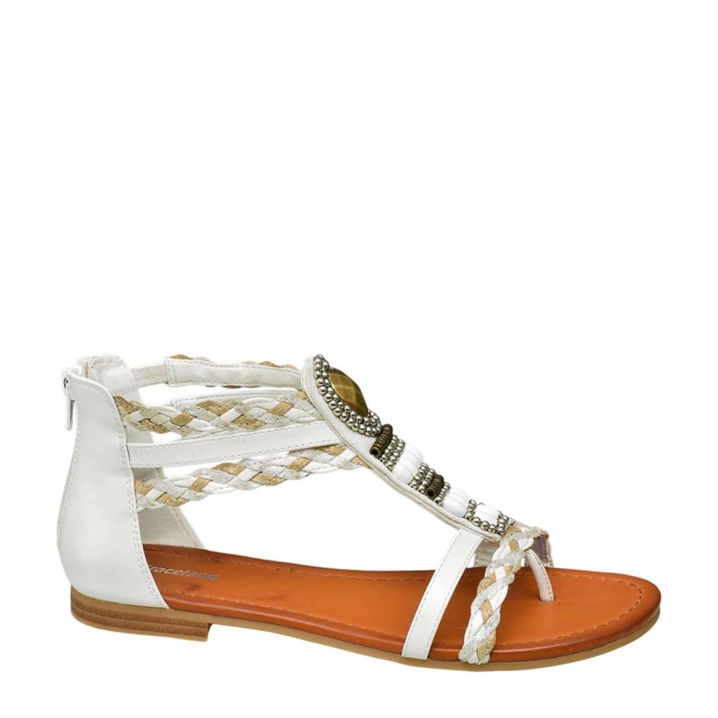 Graceland sandalen wit, Wit