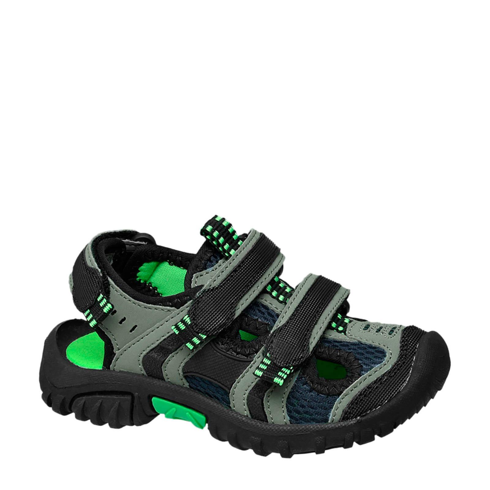 Bobbi-Shoes sandalen zwart/grijs | wehkamp