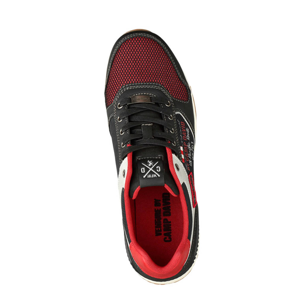 Zwart Venture By rood David Camp Sneakers rBgwrOIq