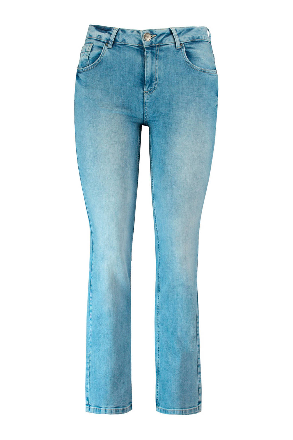 MS Mode straight fit jeans, Bleached denim